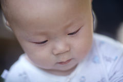 Крупный план стороны младенца Стоковые Фотографии RF