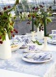 Крупный план таблицы свадьбы Стоковое Изображение