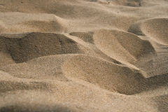Крупный план текстуры песка Стоковая Фотография
