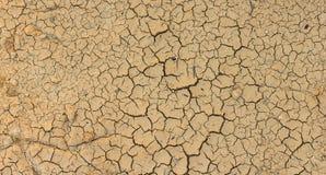 Крупный план текстуры сухой почвы Стоковое Изображение RF