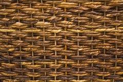 Крупный план текстуры Weave корзины Стоковое Изображение RF