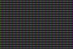 Крупный план тройчаток пикселов экрана LCD Стоковое Изображение RF
