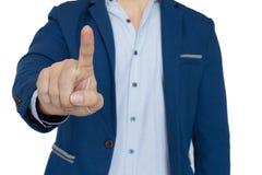 Крупный план указывать бизнесмена Стоковое Изображение RF