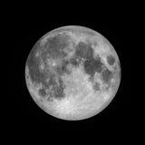 Полнолуние, лунное на темном ночном небе, Стоковые Изображения