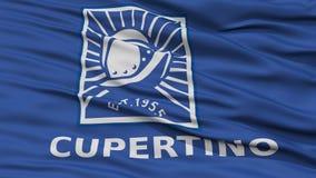 Крупный план флага города Cupertino бесплатная иллюстрация