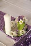 Крупный план флористического украшения свадьбы Стоковые Фото