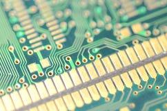 крупный план цепи доски электронный Стоковое Изображение RF