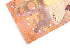 Крупный план части банкноты евро 10!! Стоковое Изображение RF
