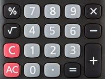 Крупный план черной клавиатуры калькулятора стоковая фотография rf