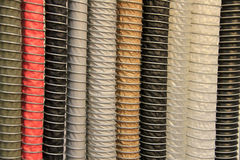 Крупный план черных пластичных труб - изображение запаса Стоковые Изображения RF