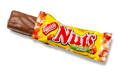 Крупный план чокнутого шоколада конфеты Стоковые Фото