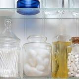 Крупный план шкафа медицины Стоковая Фотография