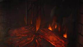 Крупный план электрического камина Правый взгляд Стоковые Фото