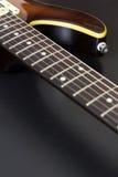 Крупный план электрической гитары Стоковая Фотография