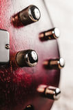 Крупный план электрической гитары Rosewood басовый Стоковое Изображение