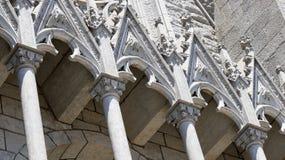Крупный план элементов собора Стоковая Фотография RF