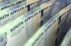Крупный план южно-африканского ранда стоковое изображение