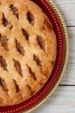 Крупный план яблочного пирога Стоковая Фотография