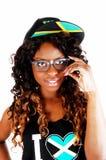 Крупный план ямайской девушки Стоковое Изображение