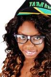 Крупный план ямайской девушки Стоковые Фото