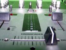 Крупный план Crossfader Стоковое Изображение RF