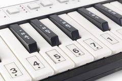 Крупный план electone клавиатуры Стоковое фото RF
