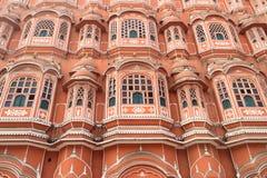 Крупный план Hawa Mahal, Джайпура, Раджастхана, Индии Стоковые Фотографии RF