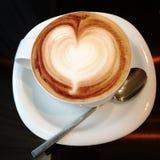 Крупный план Latte стоковые фотографии rf