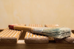 Крупный план Paintbrush Стоковые Изображения RF