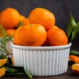 Крупный план Tangerines мандаринов Стоковые Изображения