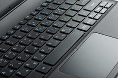 Крупный план touchpad компьтер-книжки Стоковые Изображения RF