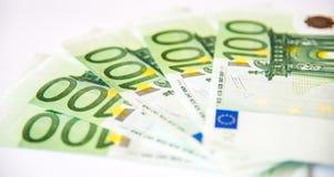 100 крупных планов евро Стоковые Фото