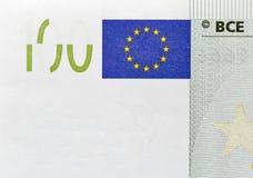 100 крупных планов банкноты евро Стоковые Изображения