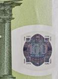 100 крупных планов банкноты евро Стоковое фото RF