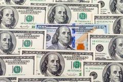 100 крупных планов банкноты долларов наличных денег Стоковое Фото