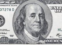 100 крупных планов части долларовой банкноты Стоковое Изображение RF
