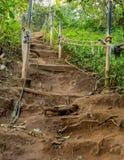 Крутой набор на пути грязи вверх по горному склону Стоковое Изображение