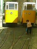 Крутые переулки Лиссабона Стоковая Фотография