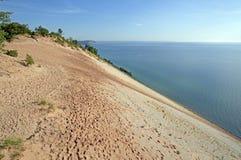 Крутые дюны на Remote Lakeshore Стоковое Изображение