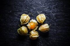 Крыжовники накидки крупного плана оранжевые органические Стоковое Фото