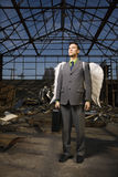 крыла бизнесмена ангела Стоковая Фотография RF