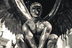 Крыла города Джордж MarÃn, экспонатом скульптуры в улицах Кампече, Кампече, Мексики Стоковое Фото