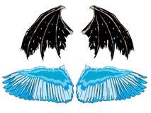 крыла демона ангела Стоковая Фотография