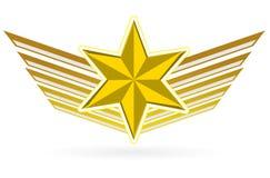 крыла звезды золота бесплатная иллюстрация