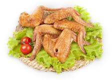 крыла курят цыпленком, котор Стоковое фото RF