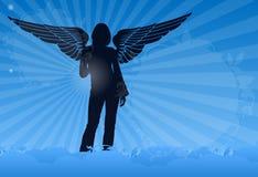 крыла облака ангела красивейшие Стоковые Фото