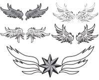 крыла пера иллюстрация вектора
