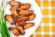 крыла плиты цыпленка Стоковая Фотография RF