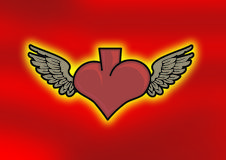 крыла сердца стоковые фотографии rf