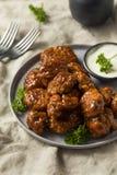 Крыла цыпленка барбекю бескостные стоковое фото rf